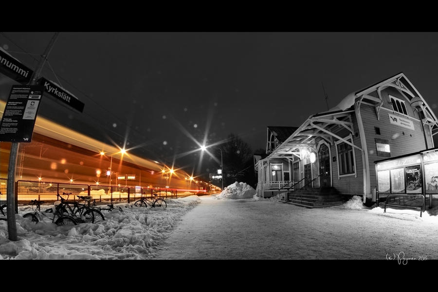 Night Train by Pajunen