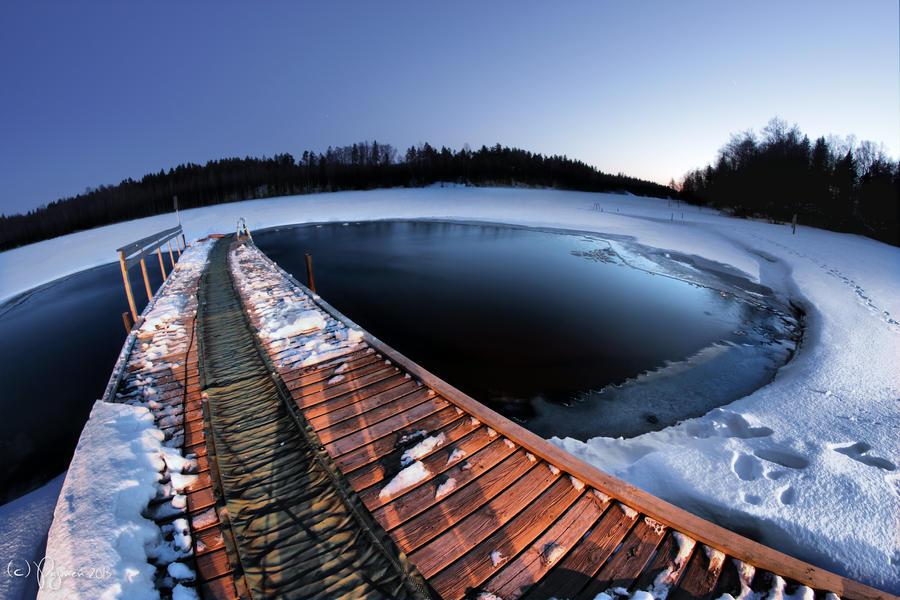 Winter Night Swimming