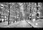 Snowfall in Helsinki