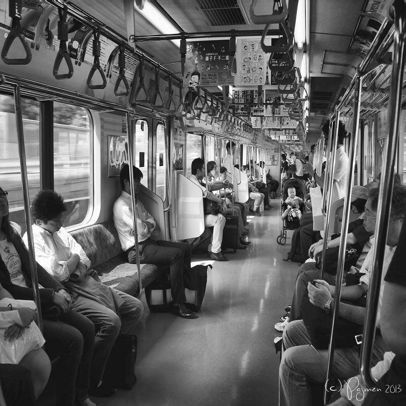 Tokyo train by Pajunen