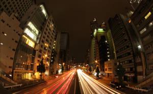 Tokyo night traffic by Pajunen