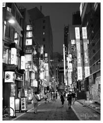 Shinjuku streets by Pajunen