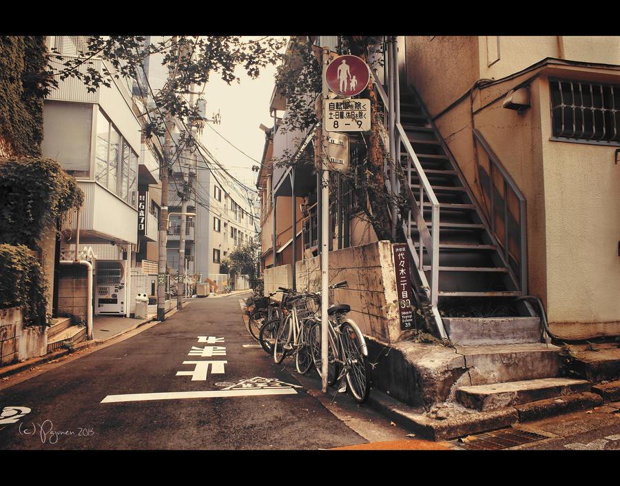 Side alley in Tokyo