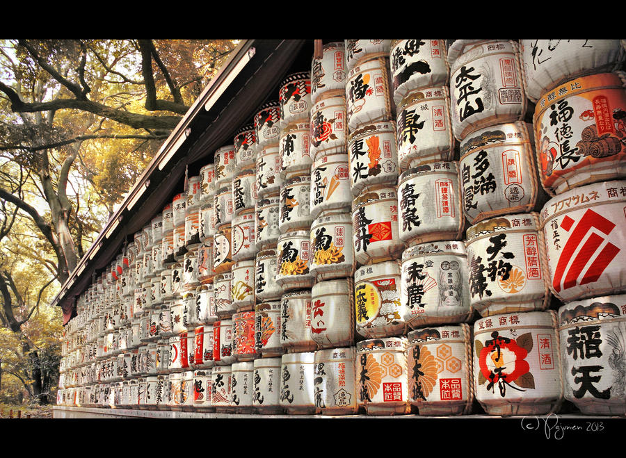 Sake Barrels by Pajunen