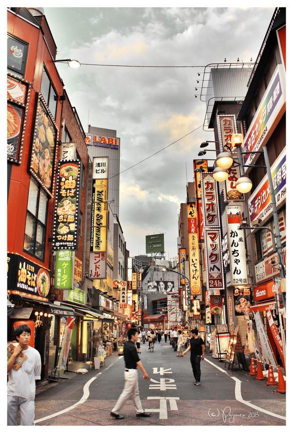 Shinjuku Evening by Pajunen