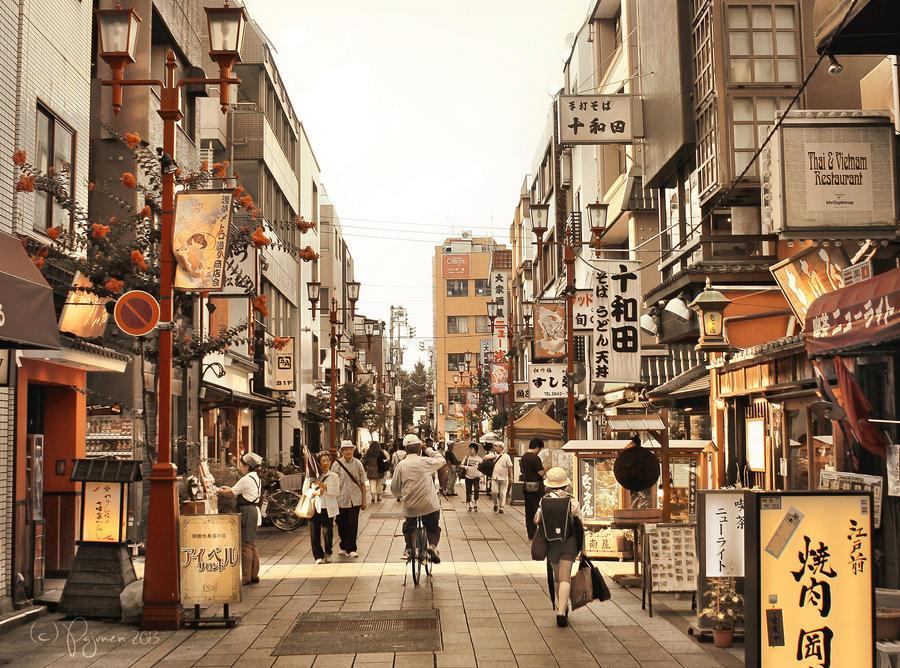 Asakusa Street Life by Pajunen