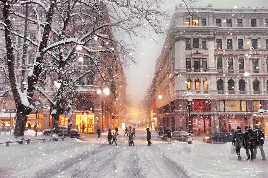 Winter in Helsinki by Pajunen