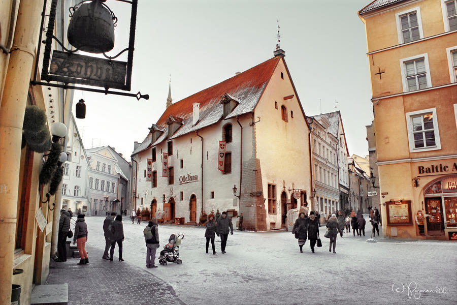 Winter in Tallinn by Pajunen