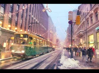 December in Helsinki by Pajunen