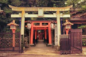 Ueno Park Torii by Pajunen