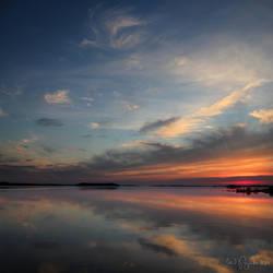 Sunset at Lake Pielinen by Pajunen