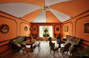 Orange living room by Pajunen