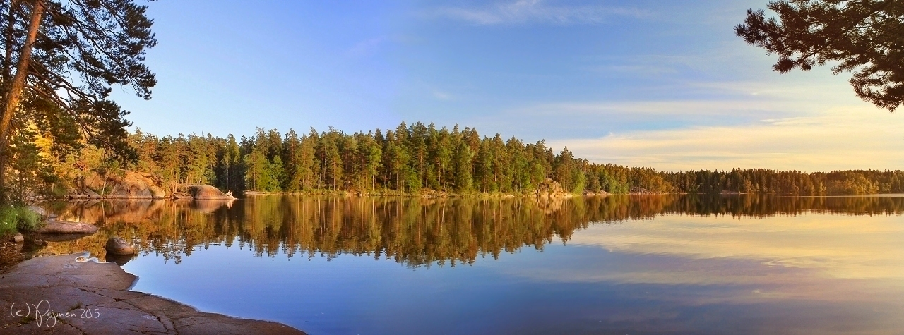 Evening by the Lake by Pajunen