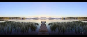 Mirror lake morning by Pajunen