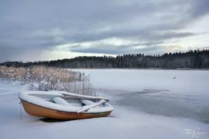 Snowy Rowboat