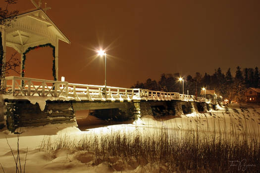 Seurasaari Bridge in Winter