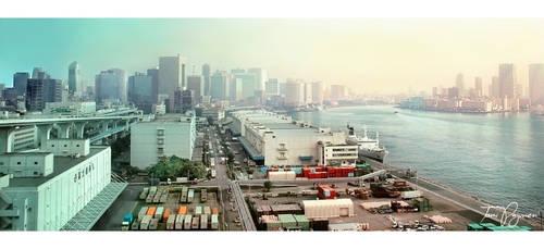 Tokyo Harbour by Pajunen