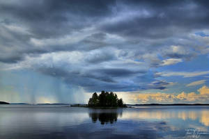 Distant Rainfall by Pajunen