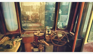 Old tram driver control