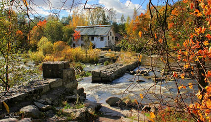 October house by the river