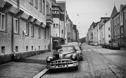 Vintage Car bw by Pajunen