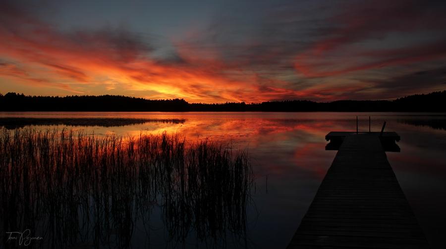 Twilight Lake by Pajunen