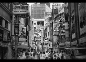 Shibuya bw by Pajunen