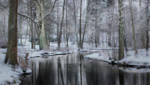 Snowy Park by Pajunen