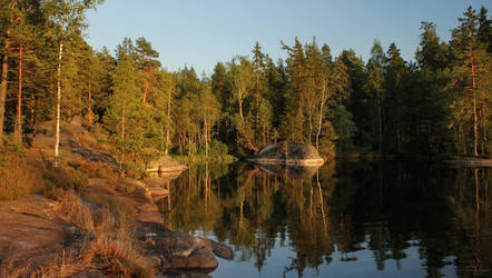 Evening at the lake by Pajunen