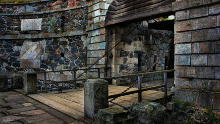 Old Drawbridge by Pajunen