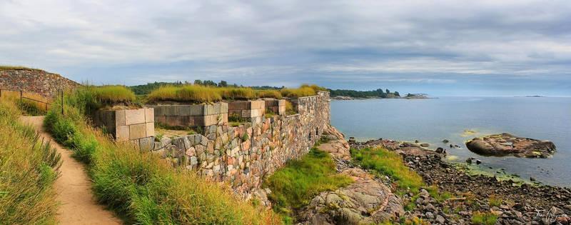 Walls of Suomenlinna Sea Fortress