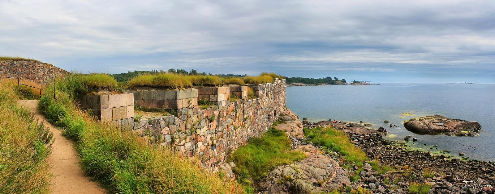 Walls of Suomenlinna Sea Fortress by Pajunen