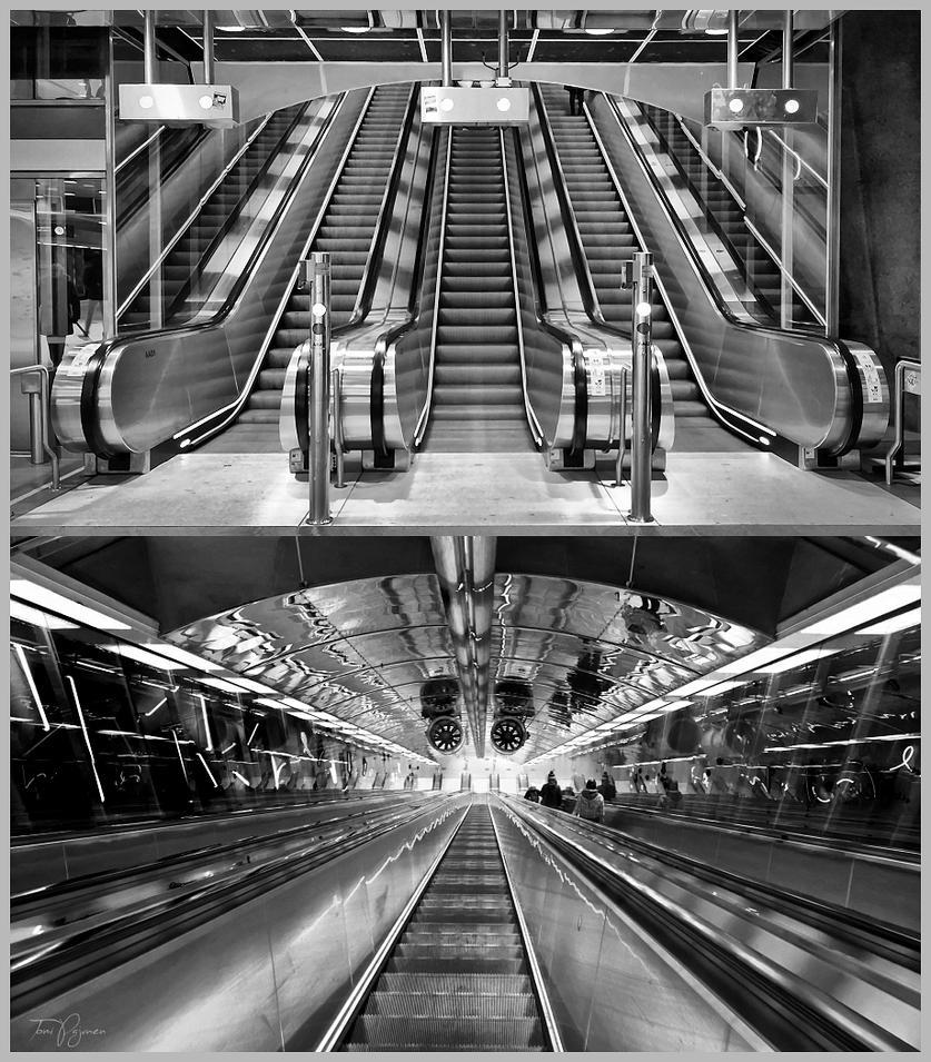 Escalators by Pajunen