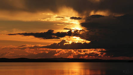 Summer Night Waterscape by Pajunen