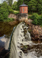 Old Town River Waterfall by Pajunen