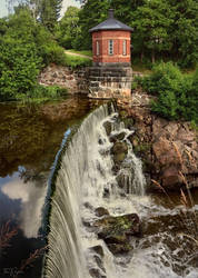 Old Town River Waterfall