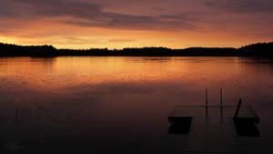Summer Night Lake