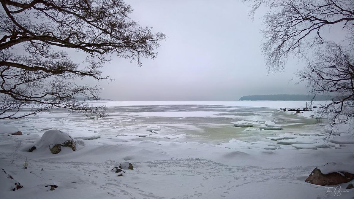 Роскошные пейзажи Норвегии - Страница 40 Winter_seashore_by_pajunen-dc35nn8