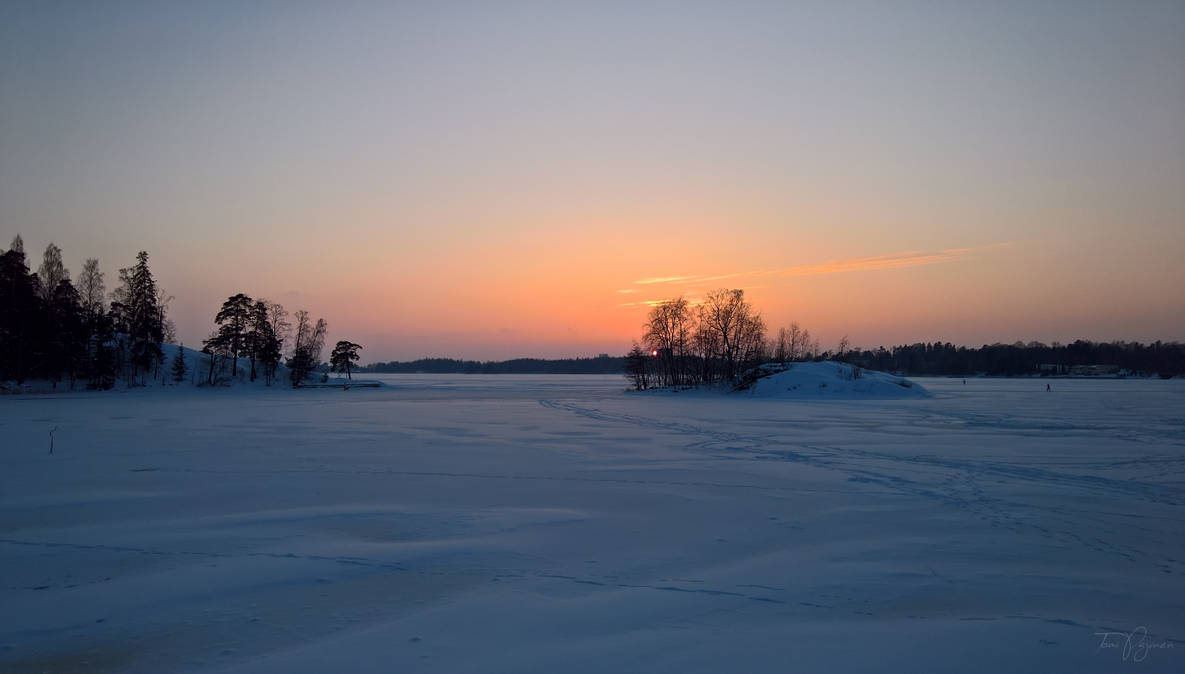 February Evening II by Pajunen