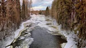 Vantaankoski in March by Pajunen