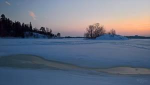 Seashore in winter