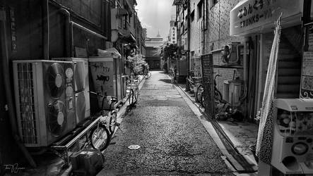 Asakusa Backstreets (bw) by Pajunen