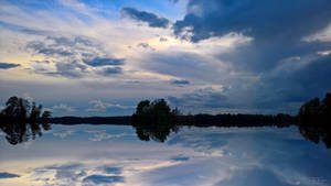 Mirror reflection waterscape