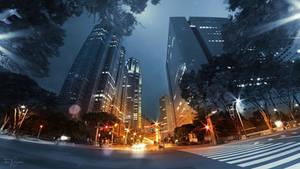 Skyscrapers at night II