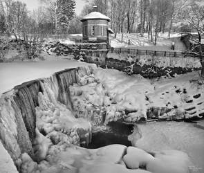 Old Town Dam in Winter by Pajunen