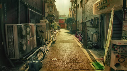 Asakusa Backstreets by Pajunen