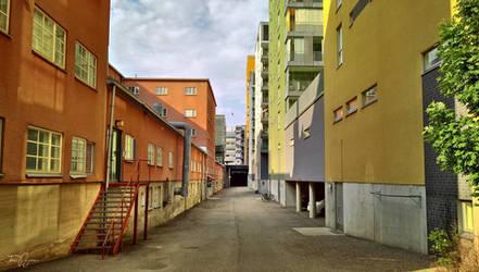 Helsinki backstreets by Pajunen