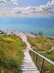 Summer day seashore