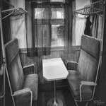 Old Train Cafe (bw) by Pajunen