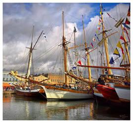 Sailing ships in Helsinki